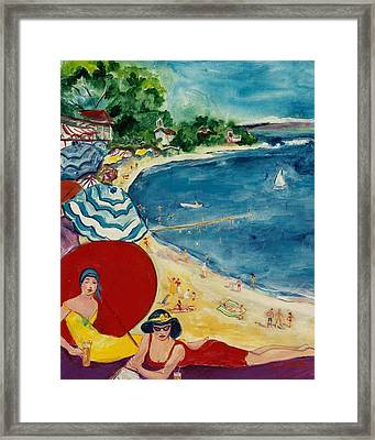 Framed Print featuring the painting Cannes by Elaine Elliott