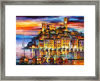 Cannes France Framed Print by Leonid Afremov
