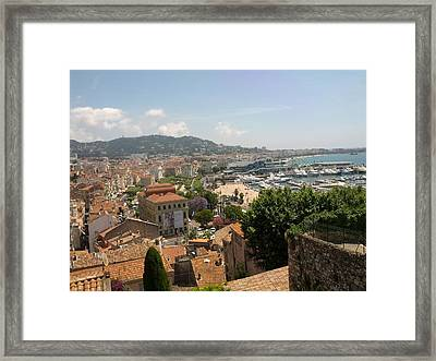 Cannes French Riviera Iv Framed Print by Shesh Tantry