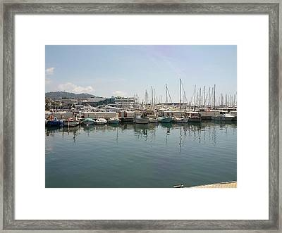 Cannes French Riviera Vi Framed Print by Shesh Tantry
