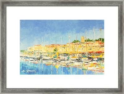 Cannes Harbour Framed Print