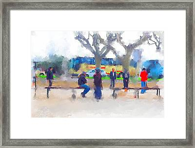 Cannes In Winter Framed Print