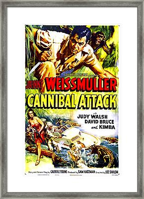 Cannibal Attack, Us Poster, Johnny Framed Print by Everett