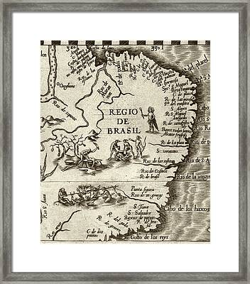Cannibal Legends In Brazil Framed Print by Library Of Congress, Geography And Map Division
