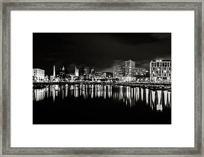 Canning Dock Liverpool Framed Print by Wayne Molyneux