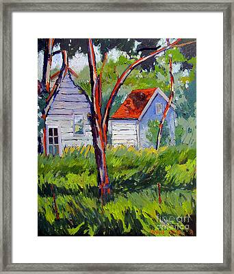 Canning Kitchen And Smokehouse Framed Print by Charlie Spear