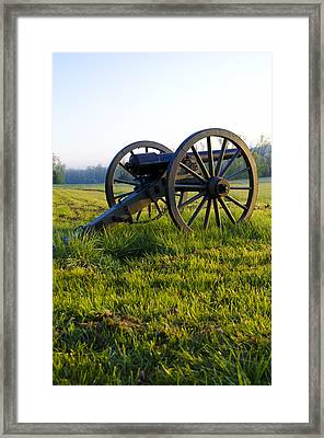 Cannon At Gettysburg Framed Print by Bill Cannon