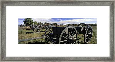 Cannon At Gettysburg National Military Framed Print