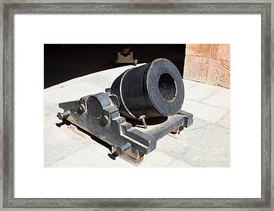 Cannon At San Francisco Fort Point 5d21489 Framed Print by Wingsdomain Art and Photography