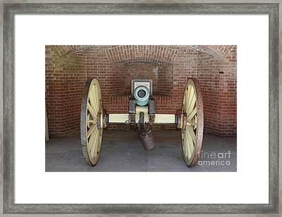 Cannon At San Francisco Fort Point 5d21490 Framed Print by Wingsdomain Art and Photography