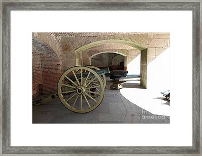Cannon At San Francisco Fort Point 5d21495 Framed Print by Wingsdomain Art and Photography