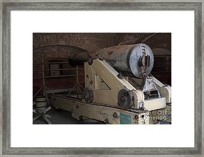 Cannon At San Francisco Fort Point 5d21499 Framed Print by Wingsdomain Art and Photography