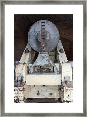 Cannon At San Francisco Fort Point 5d21501 Framed Print by Wingsdomain Art and Photography