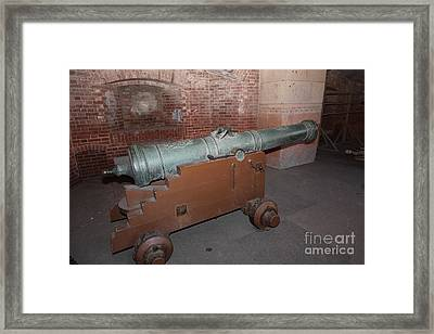 Cannon At San Francisco Fort Point 5d21503 Framed Print by Wingsdomain Art and Photography