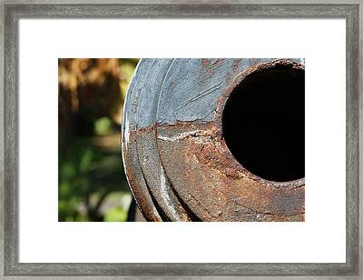 Cannon Barrel Fountain Of Youth Framed Print by Christine Till