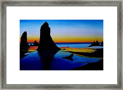 Cannon Beach At Sunset 15 Framed Print by Portland Art Creations