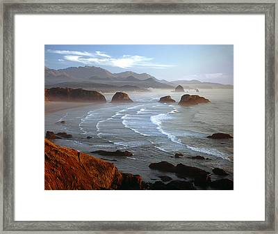 Cannon Beach At Sunset Framed Print
