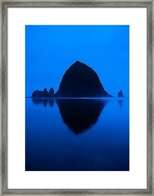 Cannon Beach Blue Framed Print