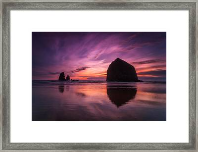 Cannon Beach Dreams Framed Print by Darren  White