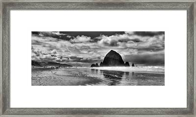 Cannon Beach On The Oregon Coast Framed Print by David Patterson