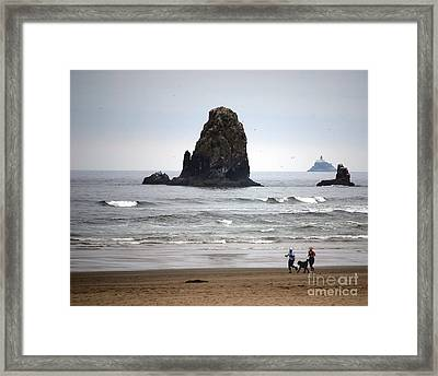 Cannon Beach Run Framed Print