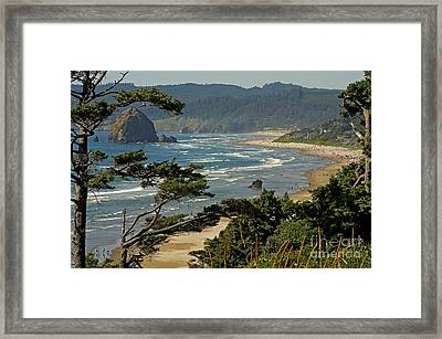 Framed Print featuring the photograph Cannon Beach Seascape by Nick  Boren