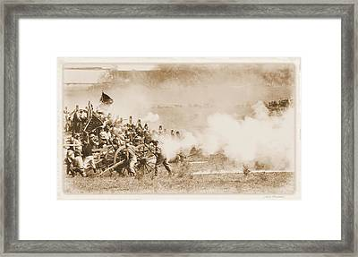Framed Print featuring the photograph Cannon Fire by Judi Quelland