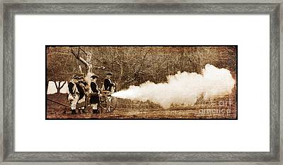 Cannon Fire Framed Print by Mark Miller