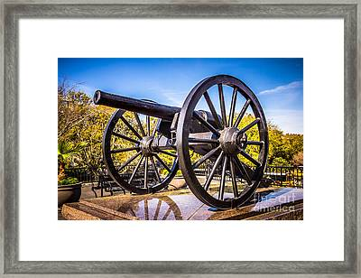 Cannon In New Orleans Washington Artillery Park Framed Print