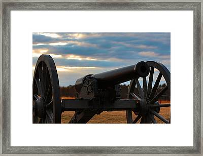 Cannon Of Manassas Battlefield Framed Print