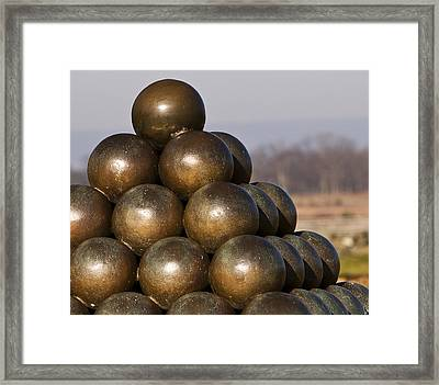 Cannon Shot At High Water Mark Framed Print