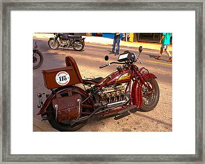 Cannonball Indian #115 Framed Print