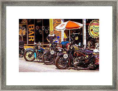 Cannonball Motorcycle Colors Framed Print