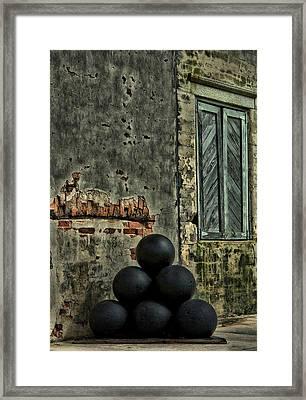 Cannonballs Framed Print