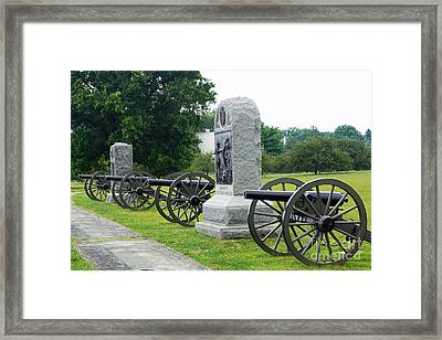 Cannons At Gettysburg Framed Print