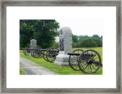 Cannons At Gettysburg Framed Print by J Jaiam