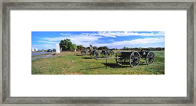 Cannons At Gettysburg National Military Framed Print