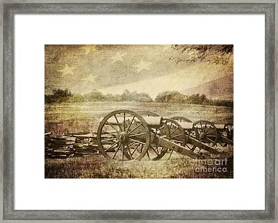 Cannons At Pea Ridge Framed Print