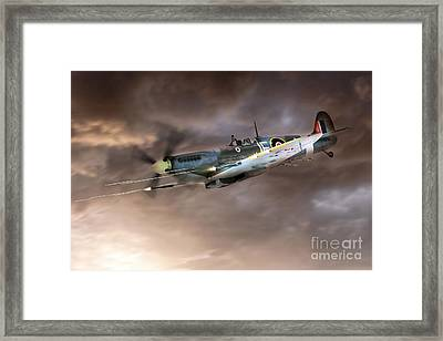 Cannons Blazing Framed Print