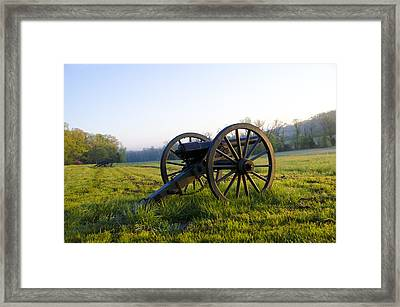 Cannons In A Field At Gettysburg Framed Print