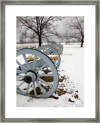 Cannon's In The Snow Framed Print
