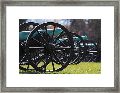 Cannons Of Manassas Battlefield Framed Print