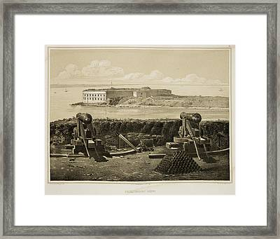 Cannons On Coastline Framed Print by British Library