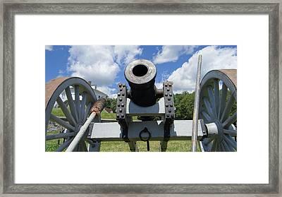 Cannons Ready Framed Print by Kim Sanborn