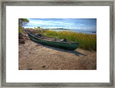 Canoe At Cedar Key Framed Print