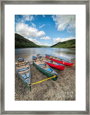 Canoe Break Framed Print