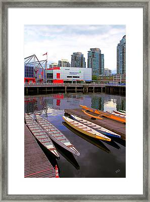 Canoe Club And Telus World Of Science In Vancouver Framed Print