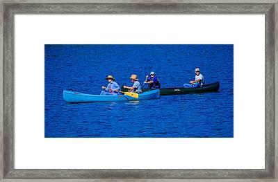 Canoe Couples Framed Print