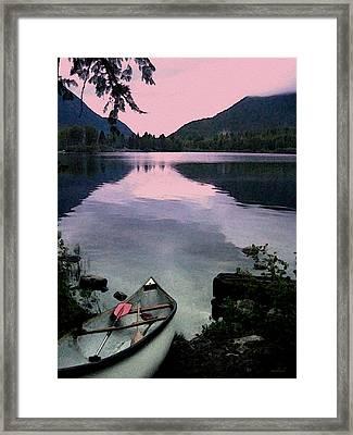 Canoe Day Framed Print