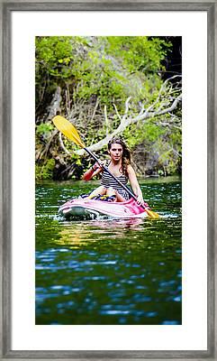Canoe For Girls Framed Print by Sotiris Filippou